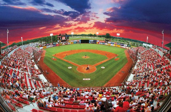 Opening in 1991, Five County Stadium has been the home of the Mudcats in Zebulon, NC.